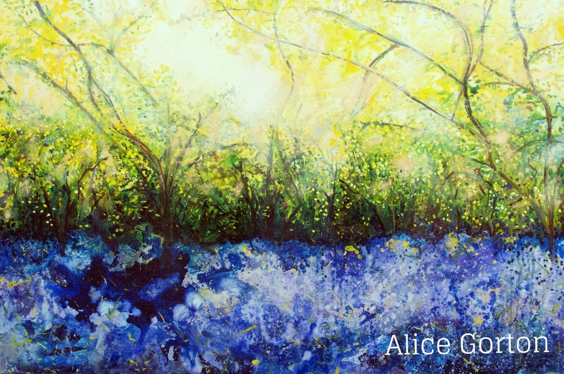 Picture, Painting, Bluebells 2, Alice Gorton