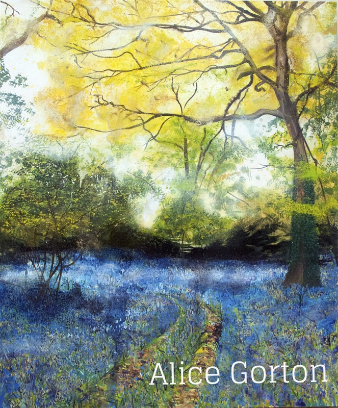 Bluebells Painting Alice Gorton